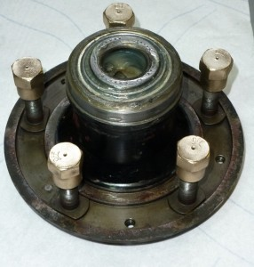 Front hub assembly re-packed with fresh grease